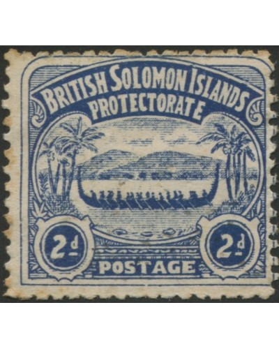 Solomon Islands 1907 SG3 2d indigo Canoe MH