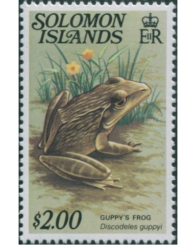 Solomon Islands 1979 SG402A $2 Guppys Frog MNH