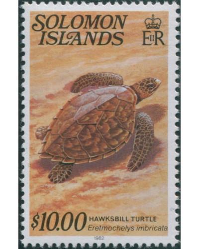 Solomon Islands 1979 SG403cB $10 Hawksbill Turtle 1982 date imprint MNH