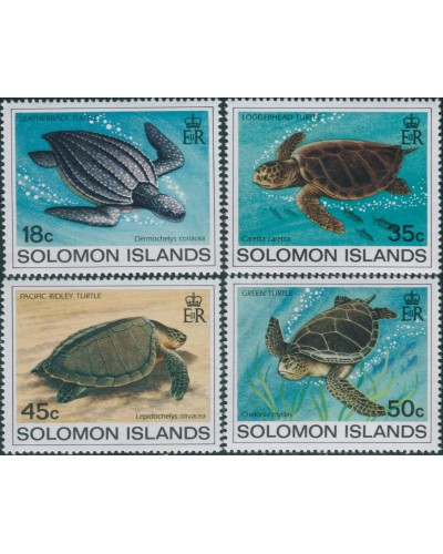 Solomon Islands 1983 SG485-488 Turtles set MNH