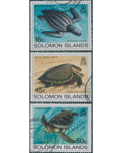 Solomon Islands 1983 SG485-488 Turtles set part FU