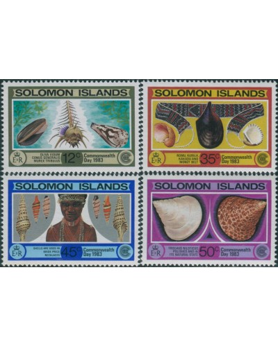 Solomon Islands 1983 SG489-492 Commonwealth Day set MNH