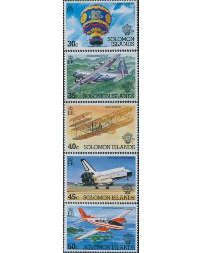 Solomon Islands 1983 SG493-497 Manned Flight set MNH