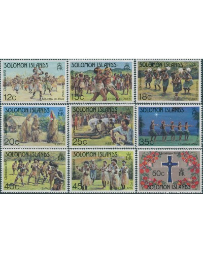 Solomon Islands 1983 SG498-506 Christmas set MNH