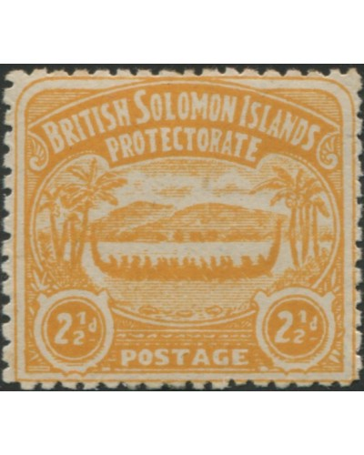 Solomon Islands 1907 SG4 2½d orange-yellow Canoe MH