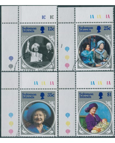 Solomon Islands 1985 SG538-541 Queen Mother set FU