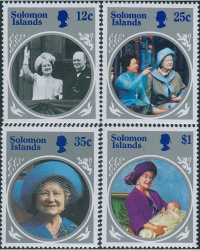 Solomon Islands 1985 SG538-541 Queen Mother set MNH