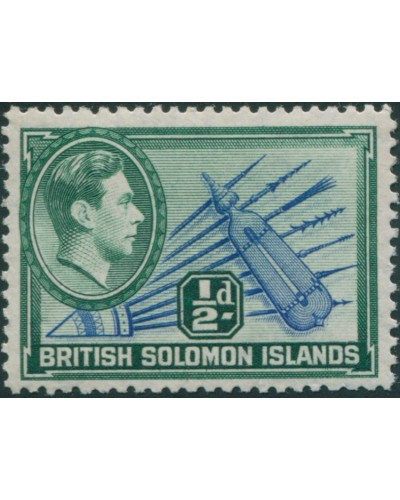 Solomon Islands 1939 SG60 ½d Spears and Shield MLH