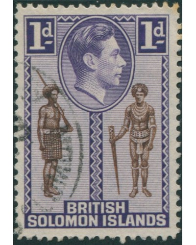 Solomon Islands 1939 SG61 1d Native Constable and Chief FU
