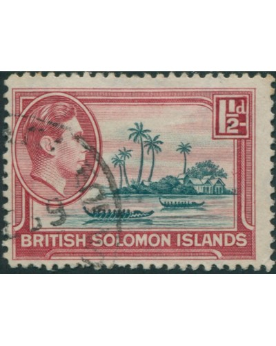 Solomon Islands 1939 SG62 1½d Artificial Island FU