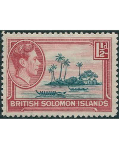 Solomon Islands 1939 SG62 1½d Artificial Island MLH