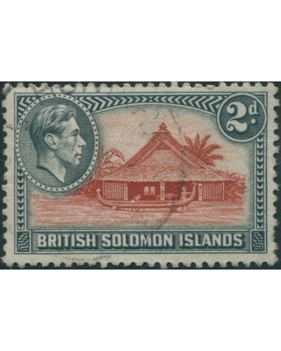 Solomon Islands 1939 SG63 2d Canoe House FU