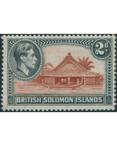 Solomon Islands 1939 SG63 2d Canoe House MLH