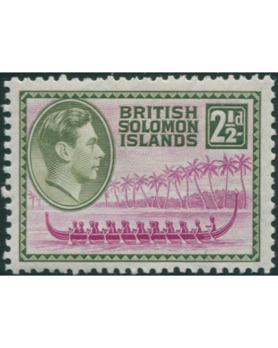 Solomon Islands 1939 SG64 2½d Roviana Canoe MLH