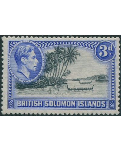 Solomon Islands 1939 SG65 3d Roviana Canoes MH
