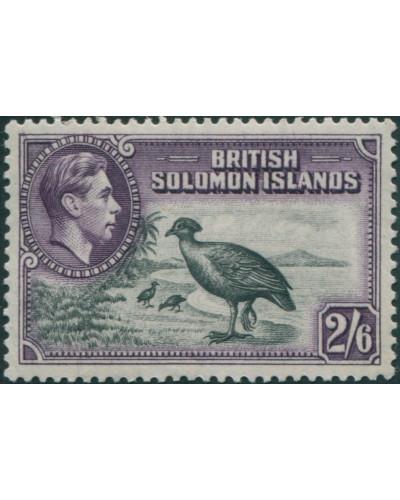 Solomon Islands 1939 SG70 2/6 Bismark Scrub Fowl toned back MLH