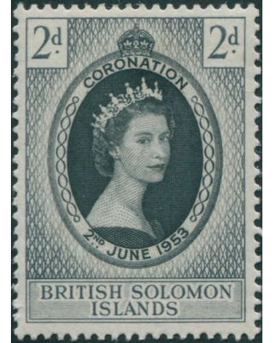Solomon Islands 1953 SG81 2d Coronation MLH