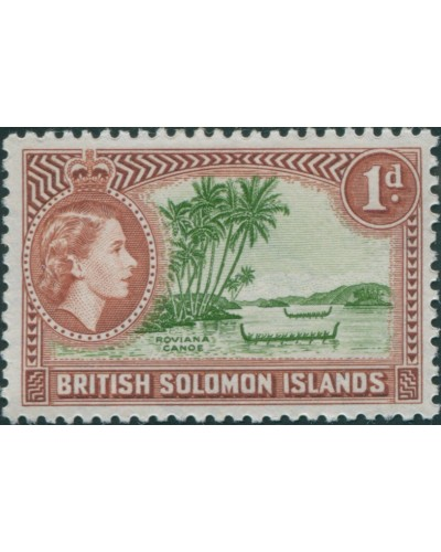Solomon Islands 1956 SG83 1d Roviana Canoes MLH