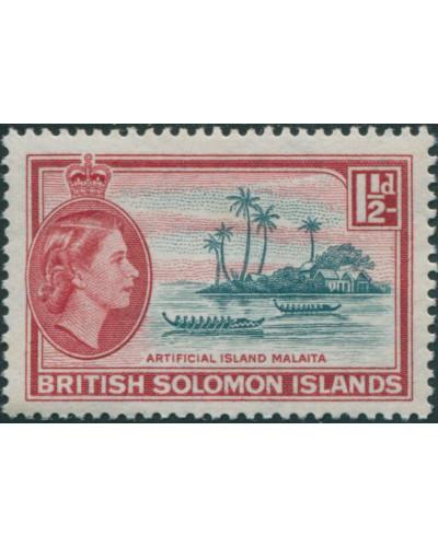 Solomon Islands 1956 SG84 1½d Artificial Island MLH