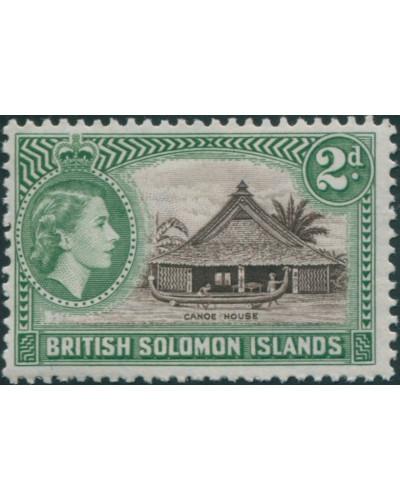 Solomon Islands 1956 SG85 2d Canoe House MLH