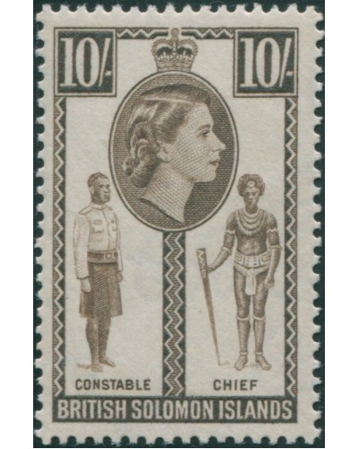 Solomon Islands 1956 SG95 10/- Native Constable and Chief MLH