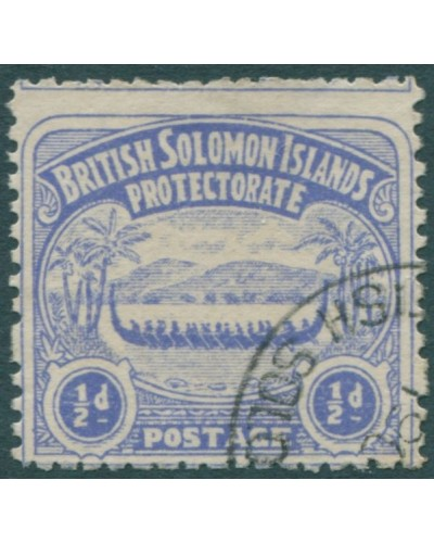 Solomon Islands 1907 SG1 ½d ultramarine Canoe FU