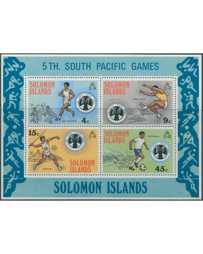 Solomon Islands 1975 SG280 South Pacific Games MS MNH