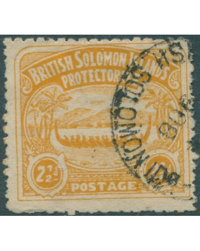 Solomon Islands 1907 SG4 2½d orange-yellow Canoe FU