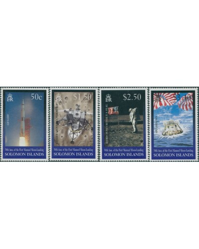 Solomon Islands 1999 SG936-939 Moon Landing set MNH