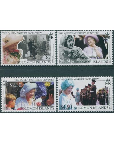 Solomon Islands 1999 SG941-944 Queen Mother set MNH
