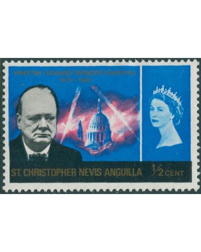 St Kitts-Nevis 1966 SG151 ½c Churchill MLH