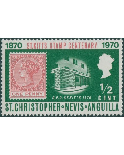St Kitts-Nevis 1970 SG229 ½c GPO MLH