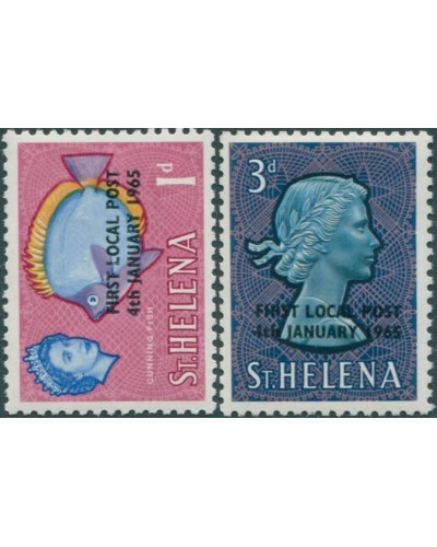 St Helena 1965 SG193-194 First Local Post MLH