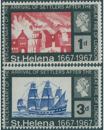 St Helena 1967 SG214-215 Arrival of Settlers MLH