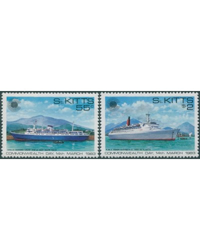 St Kitts 1983 SG108-109 Commonwealth Day MNH