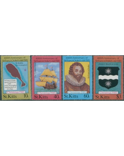 St Kitts 1985 SG181-184 Christmas set MNH