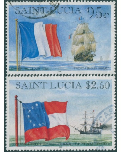 St Lucia 1996 SG1150-1152 Flags and Ships FU