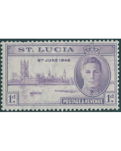 St Lucia 1946 SG142 1d violet Victory KGVI MNH