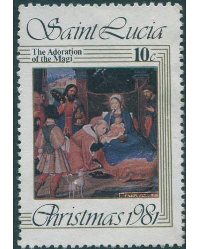 St Lucia 1981 SG567 10c Christmas MNH
