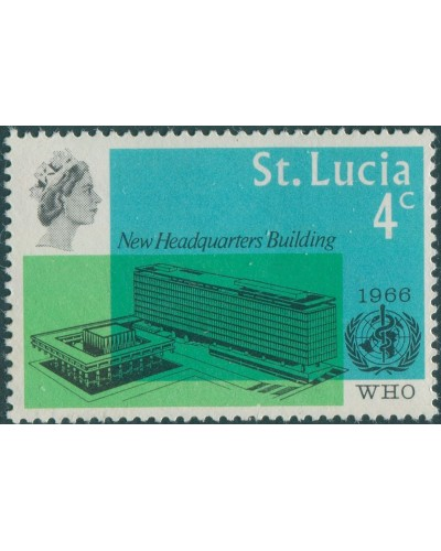 St Lucia 1966 SG224 4c WHO Headquarters MLH