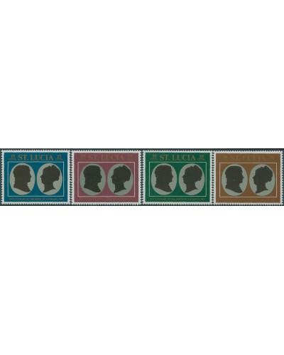 St Lucia 1969 SG268-271 Napoleon Bonaparte set MNH