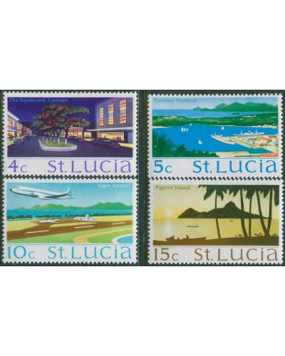 St Lucia 1970 SG278-283 Scenes (4) MNH