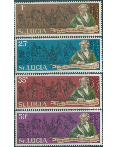 St Lucia 1970 SG293-296 Charles Dickens set MNH