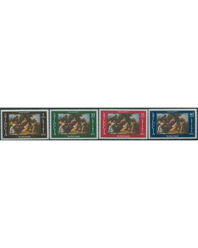 St Lucia 1972 SG339-342 Christmas set MNH