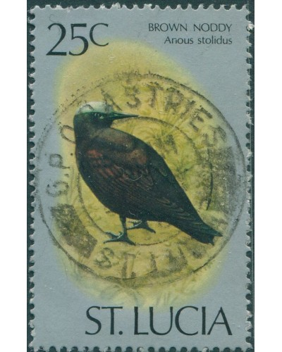 St Lucia 1976 SG424a 25c Brown Noddy FU