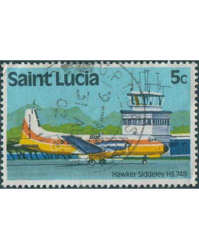 St Lucia 1980 SG537 5c Aircraft FU