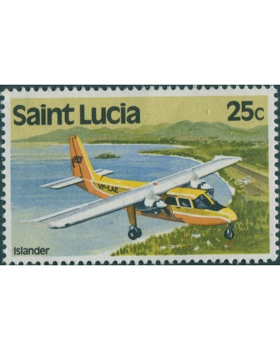 St Lucia 1980 SG541 25c Aircraft MNG