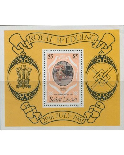 St Lucia 1981 SG579 Royal Wedding MS MNH