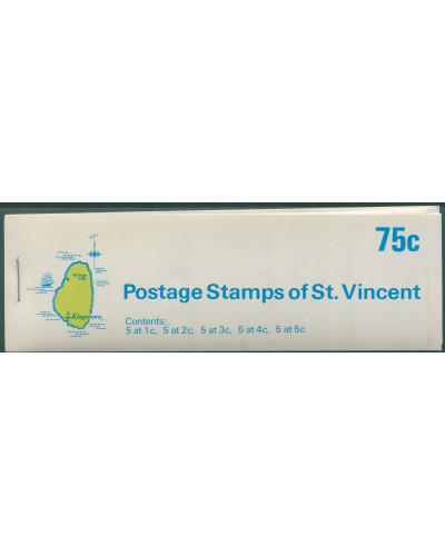St Vincent 1970 SG286a-364 Birds 75c booklet MNH