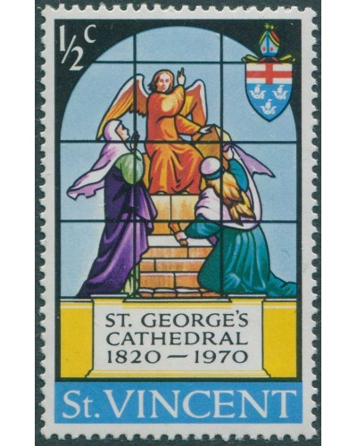St Vincent 1970 SG309 ½c St Georges Cathedral MNH